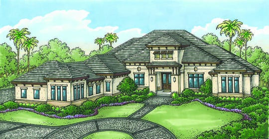 The Atherton model, by Stock Signature Homes, overlooks the 2nd fairway of the community's Lakes Course.