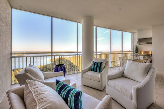 Seaglass tower residences offer views of Estero Bay and the Gulf of Mexico .