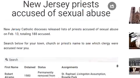Search the list of names released by NJ Catholic dioceses