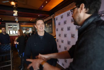 """Prior to his upcoming show """"The Jim Breuer Residency at bergenPAC"""" beginning  April 12, Jim Breuer is an American stand-up comedian, actor, musician, and radio host, sits down with reporters at El Tango Argentina Grill and visits bergenPAC in Englewood on 02/13/19."""