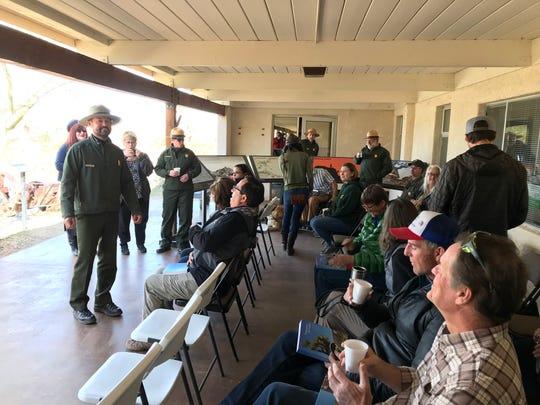 Joshua Tree National Park Superintendent David Smith addressed those gathered at the Joshua Tree National Park Association's community appreciation event.