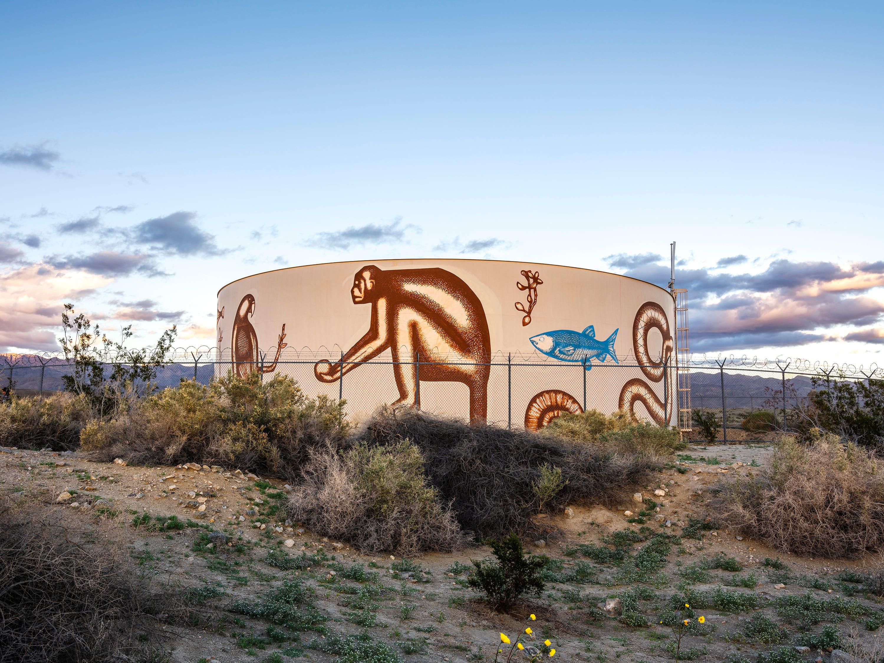 """Visit Us in the Shape of Clouds"" byArmando Lerma for Desert X 2019"