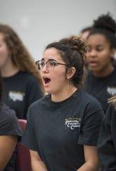 The Pensacola Children's Chorus rehearses in Pensacola on Tuesday, February 12, 2019.