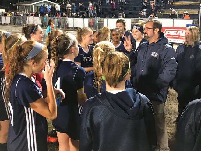 Gulf Breeze head coach Ryan Williams discusses Tuesday's regional final win with his team.