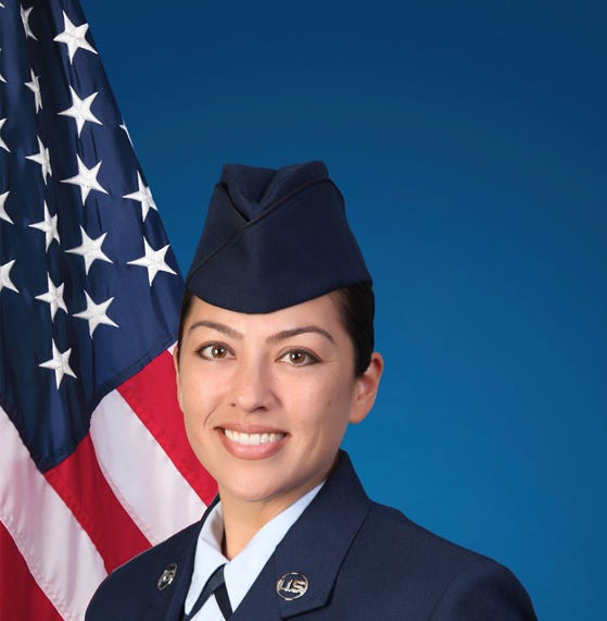 Tracelyn Perez graduates from basic military training at Joint Base San Antonio-Lackland
