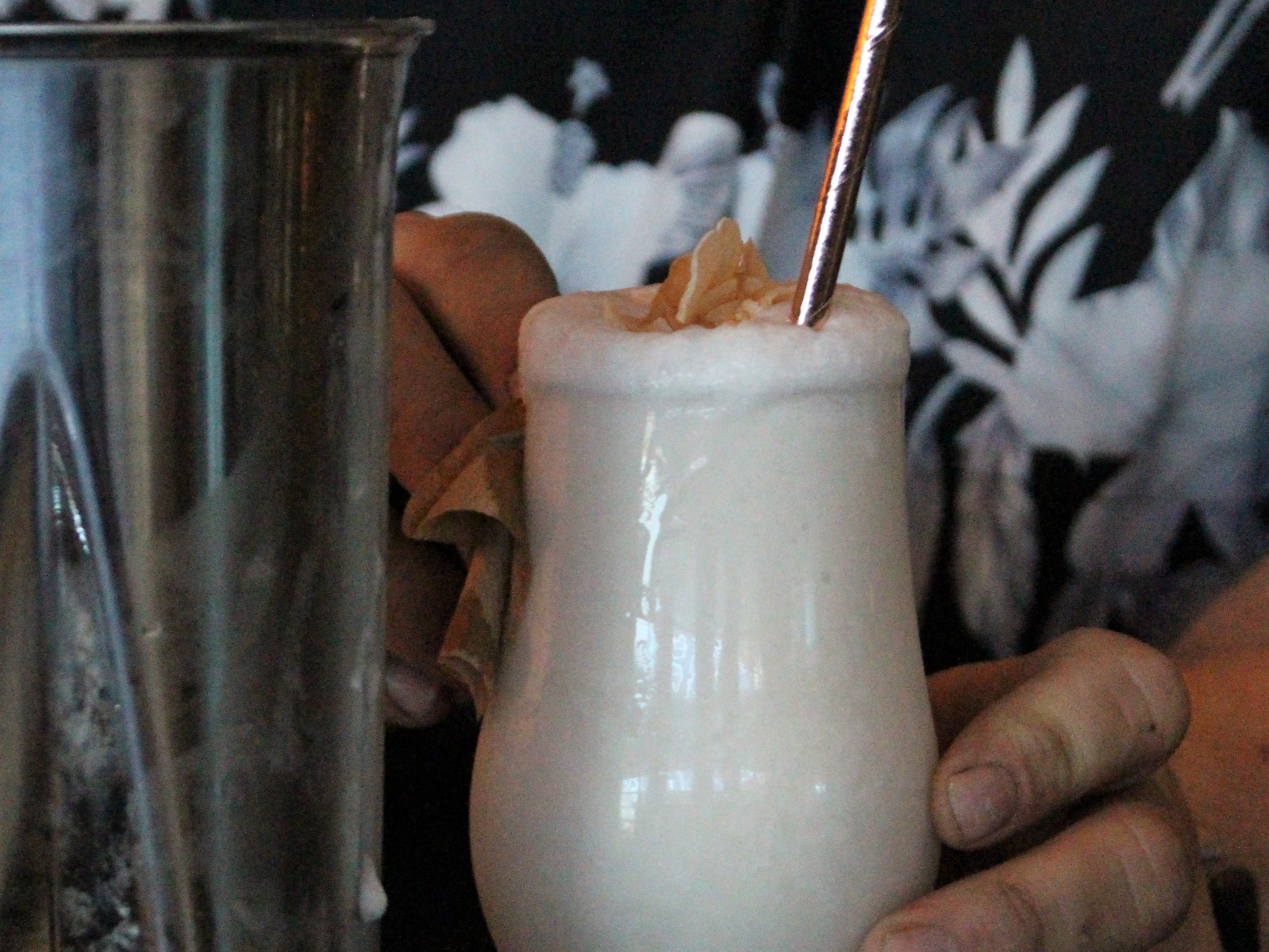 The Coupette Colada at Little Rituals is made with prosecco and housemade coconut sorbet to create a light and slightly more acidic take on the classic cocktail.