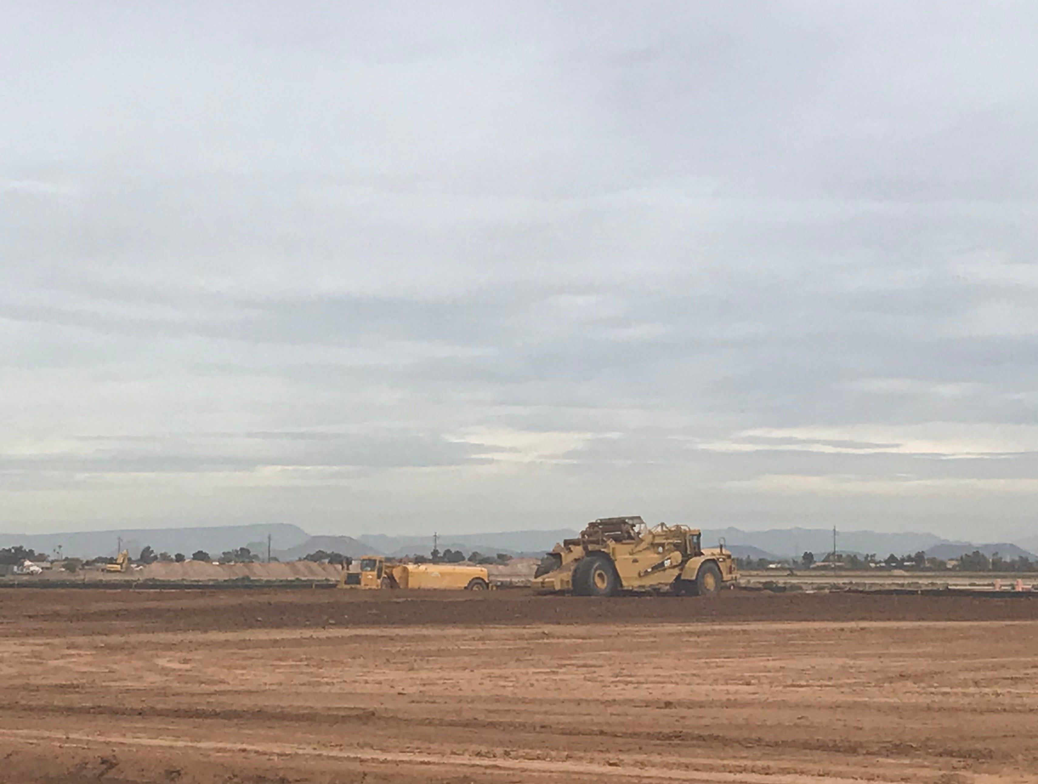 Site work is underway on the future Cives steel fabrication plant, going in just north of Olive Avenue between Litchfield and Dysart roads in El Mirage.