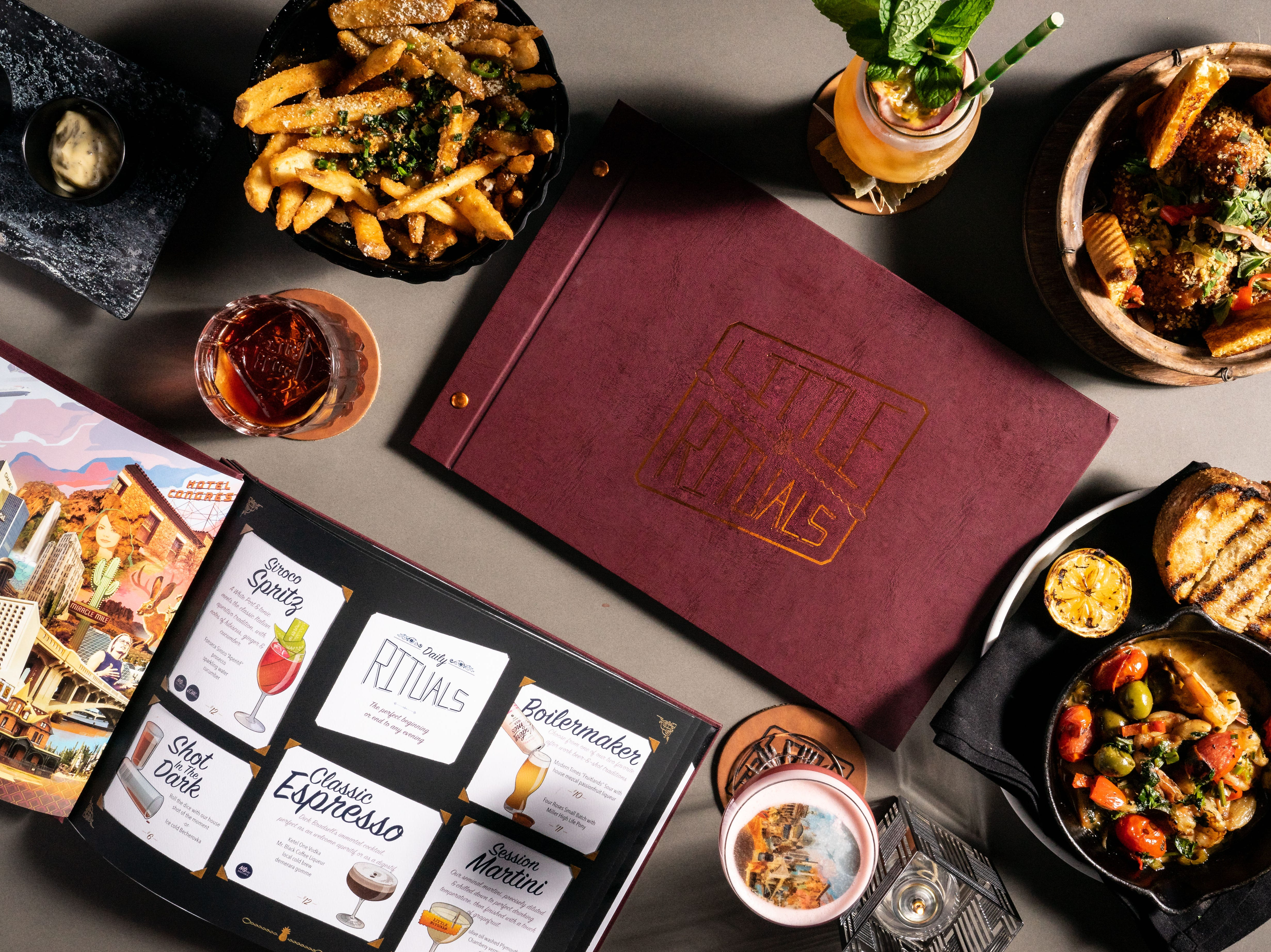 Little Rituals, located inside the Residence Inn/Courtyard by Marriott Phoenix Downtown, is one of the most anticipated bar and restaurants to open in Phoenix in 2019.