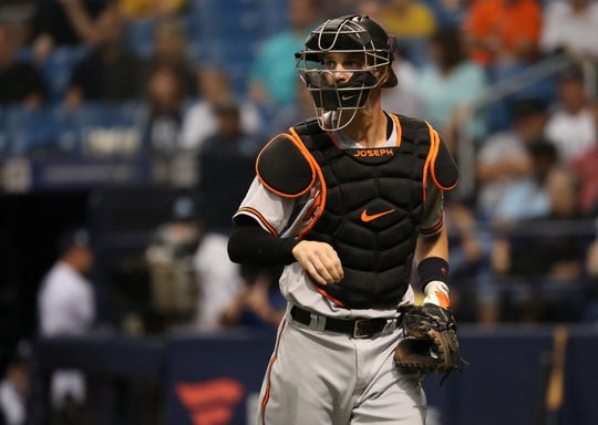 The Diamondbacks signed catcher Caleb Joseph on Wednesday to a one year contract.