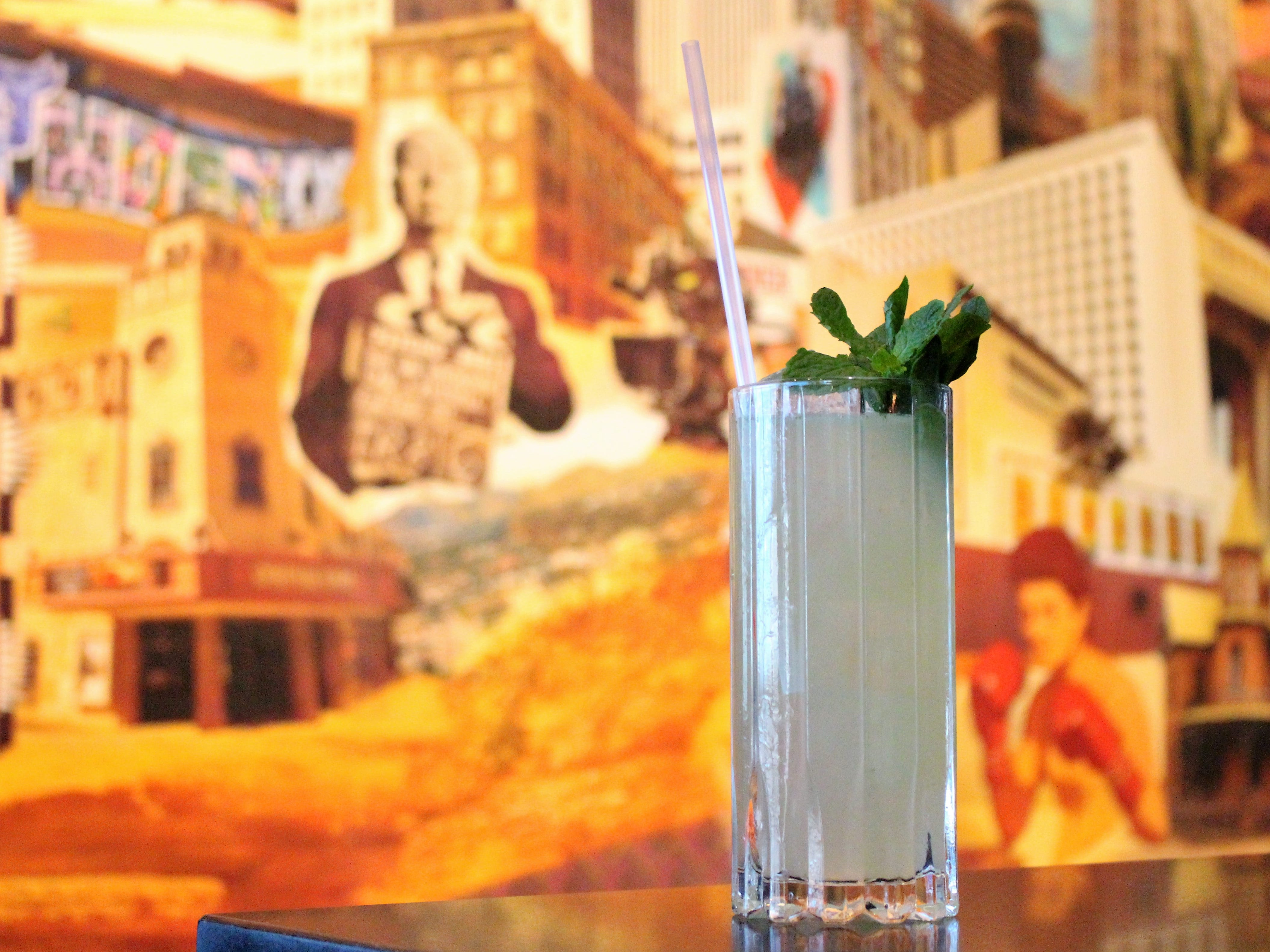From the Cooling Rituals section of the Little Rituals menu, the Touch of Evil is a refreshing combination of pisco and absinthe that's lengthened with soda.