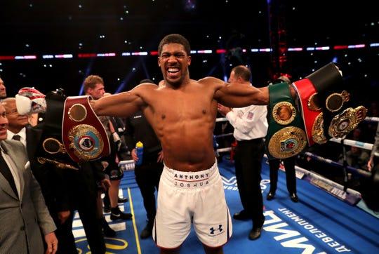 Anthony Joshua hará su primer pelea en Estados Unidos el 1 de junio.