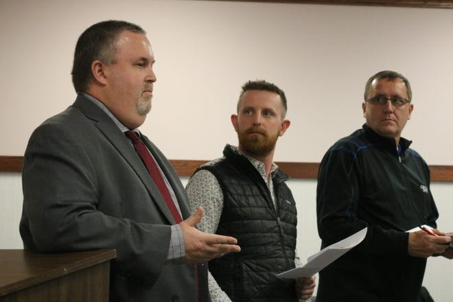 Mike Snider, Mike Roder and Mike Zipfel, of the MORA Committee, presented their proposal for a designated outdoor refreshment area in Port Clinton to city council members in February.