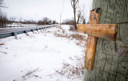 The residents who found the body of Kevin Anderson Jr. Sunday Morning have set up a memorial on their property along Keewahdin Road in Fort Gratiot, near the ditch where he was found.