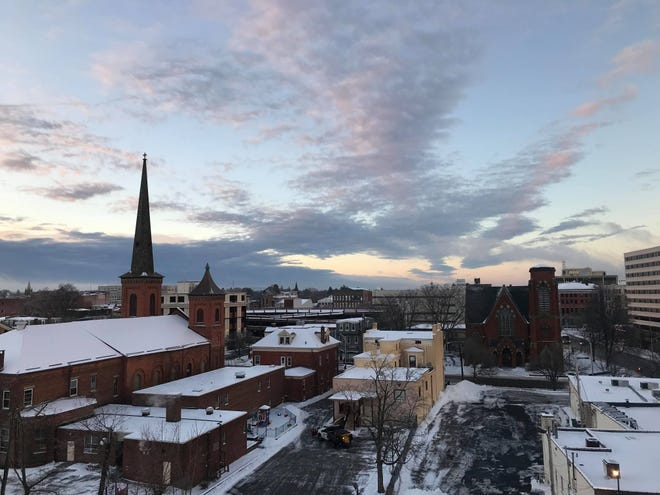 Between 3 to 5 inches of snow covered the mid-Hudson region on Tuesday, according to the National Weather Service in Albany.