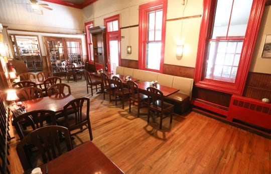 The dining room at Cold Spring Depot in Cold Spring on Wednesday, February 13, 2019.