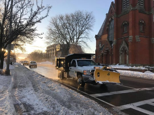 Tuesday's storm left snow, sleet and ice in the mid-Hudson Valley, making for a hazardous commute Wednesday morning as seen on Feb. 13, 2019.