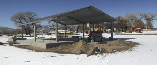 A full-hookup campground, currently under construction, will add about three dozen campsites to the recreation area.