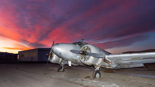 A lien has been against the 1944 Beech twin-engine airplane at Yerington airport.