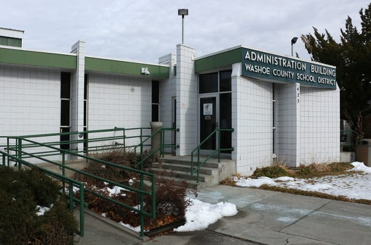 The Washoe County School District Administration Building .