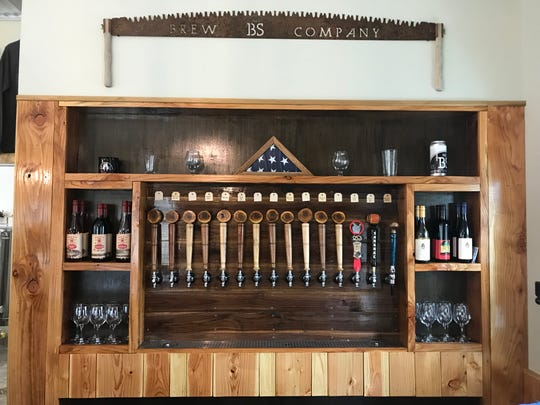 Owner Ben Noragong made the tap wall at No BS Brew Co. in Livonia.