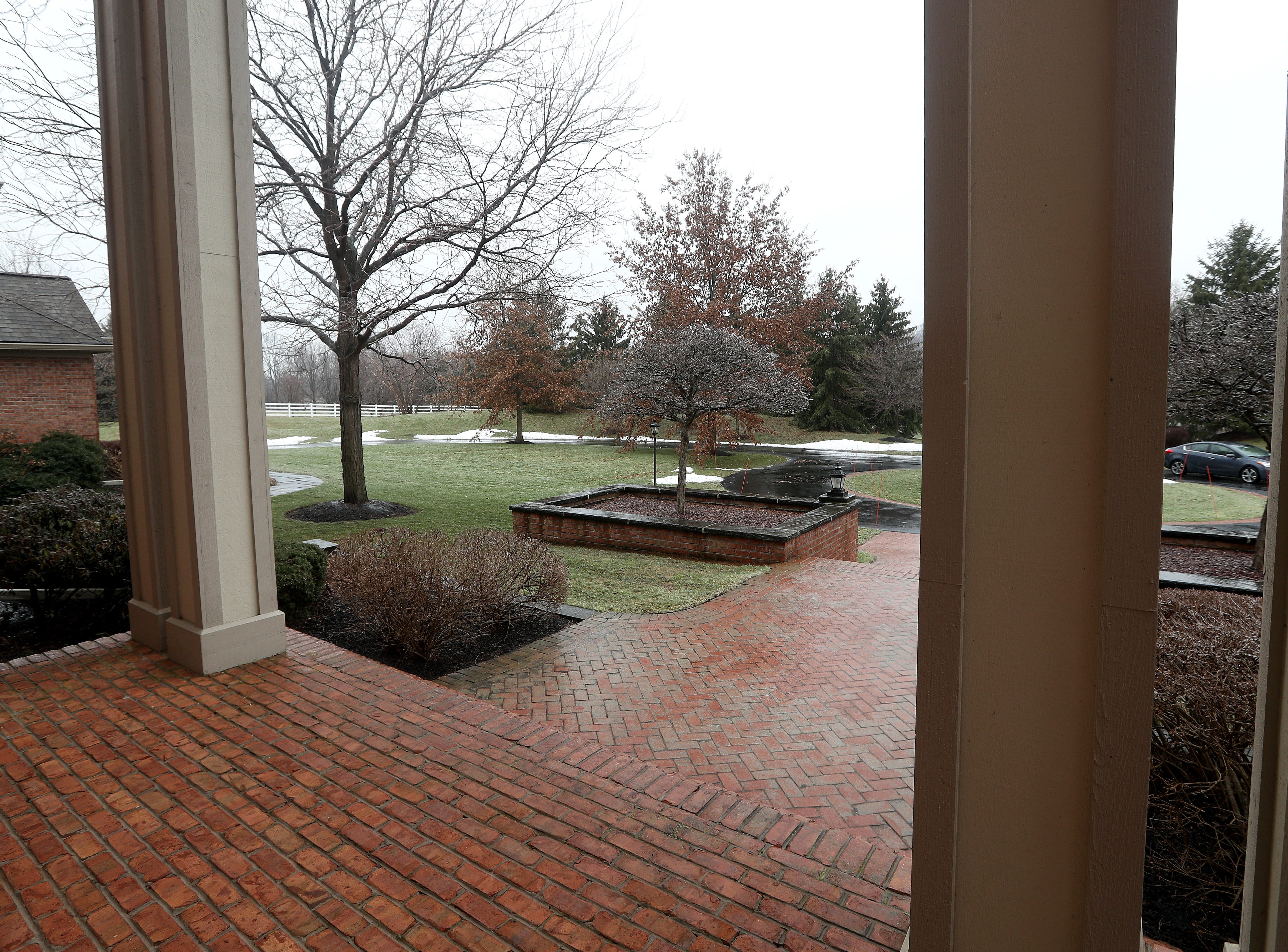 Looking back over the front yard from the main entrance.