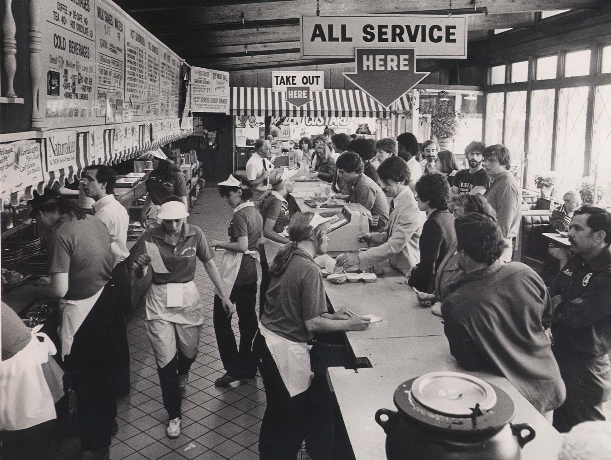 Don & Bob's, 2075 Monroe Ave., Brighton, is hopping during lunch hour in this May 1982 photo.