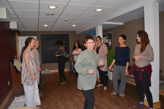 Body movement workshop run by N'Jelle Gage-Thorne at the Just Juice 4 Life Detox Retreat