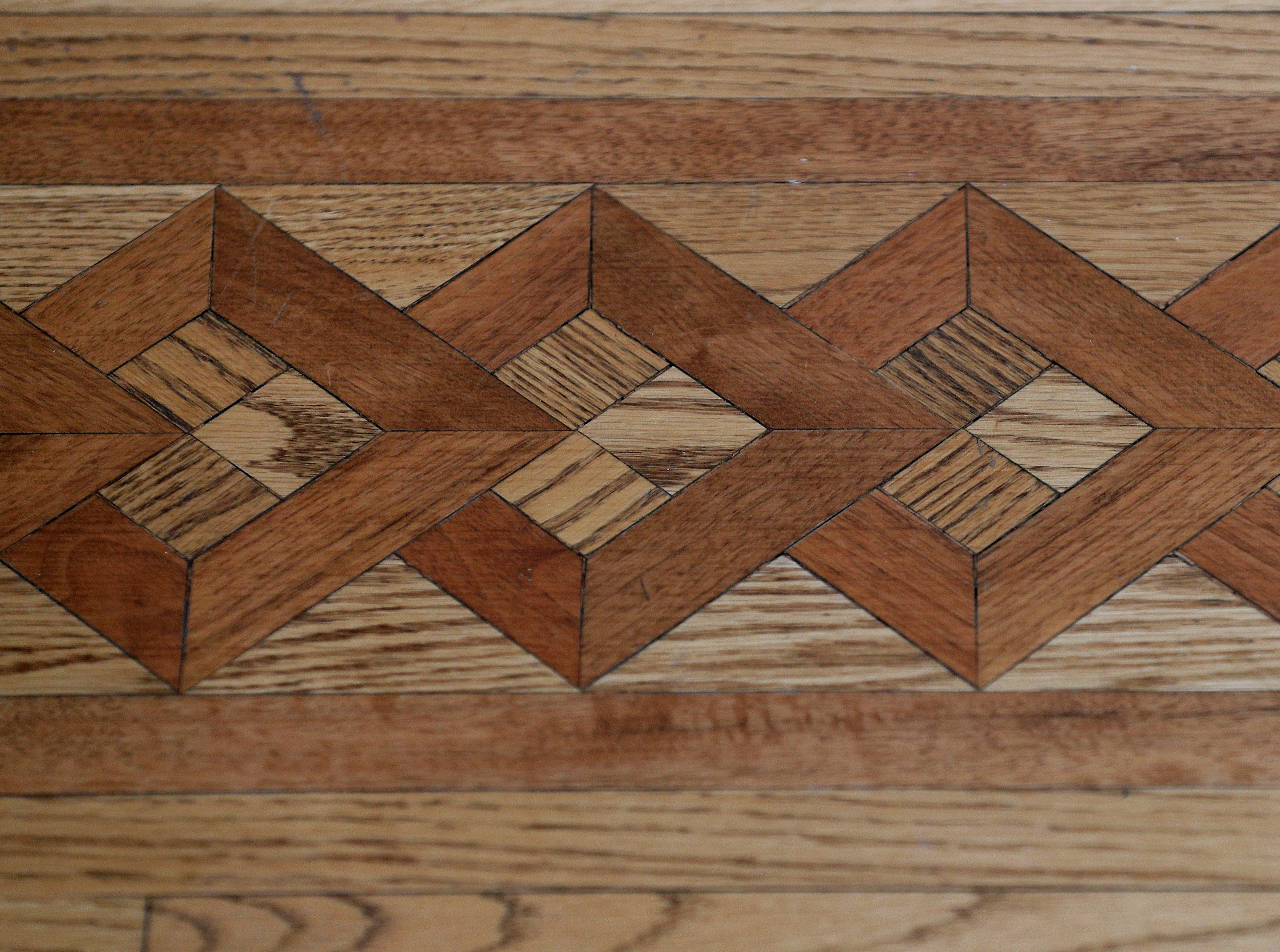 Detail of some of the hardwood flooring.