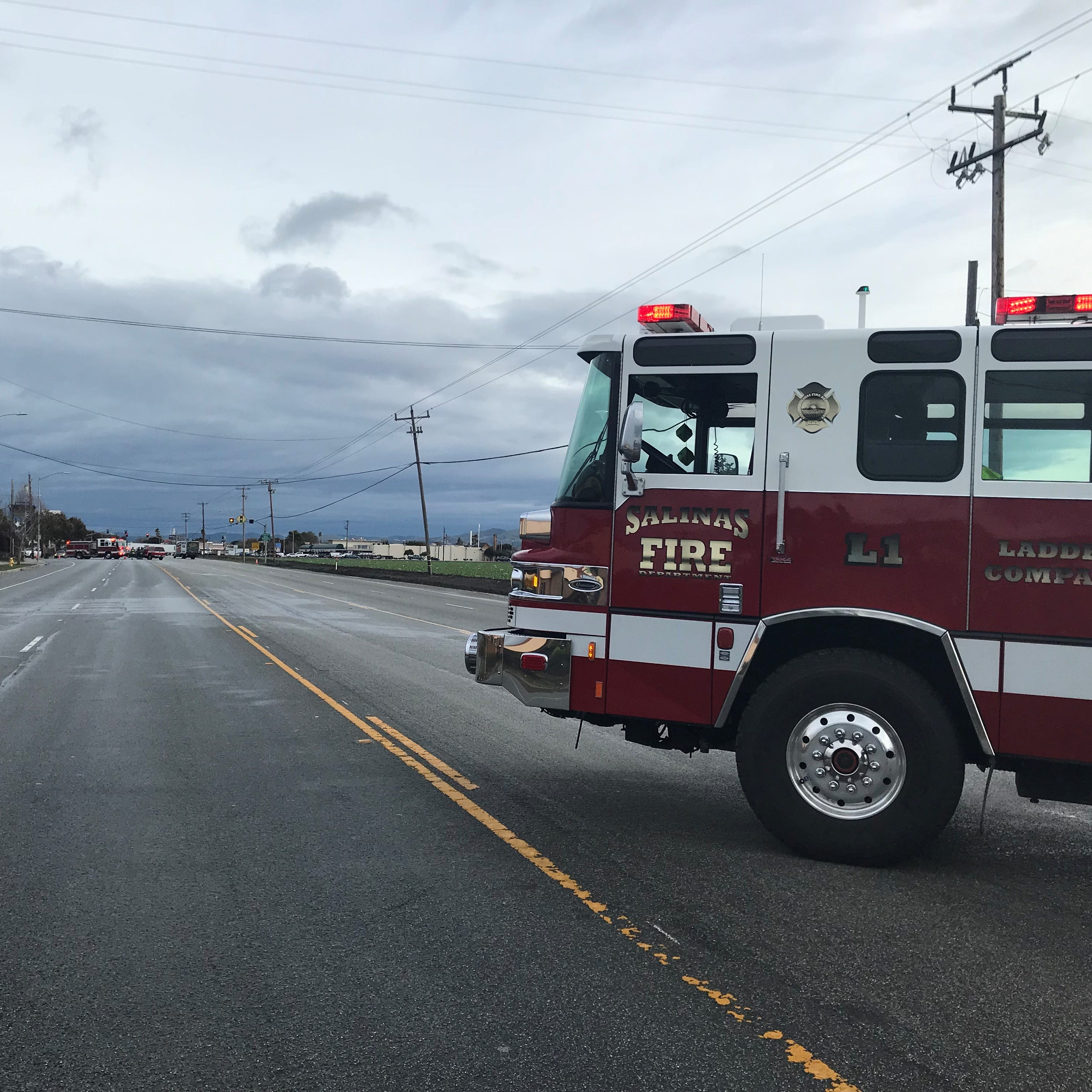 Part of Highway 68 shut down, reopened after strong winds push telephone pole
