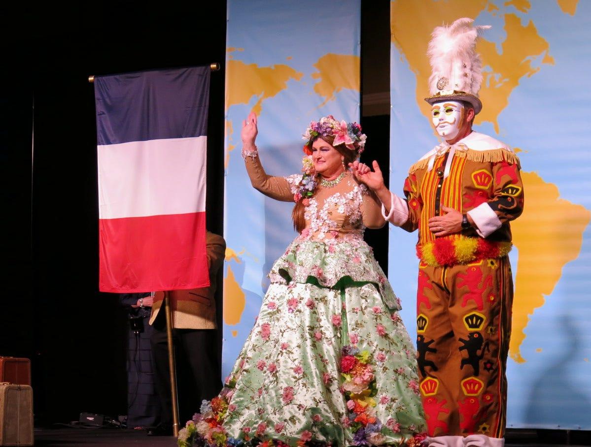 """Krewe des Ambassadeurs-Minden Grande Bal """"Mardi Gras Around the World"""" was Friday at Sam's Town."""