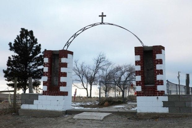 Cemetery for victims of 1890 Wounded Knee Massacre.
