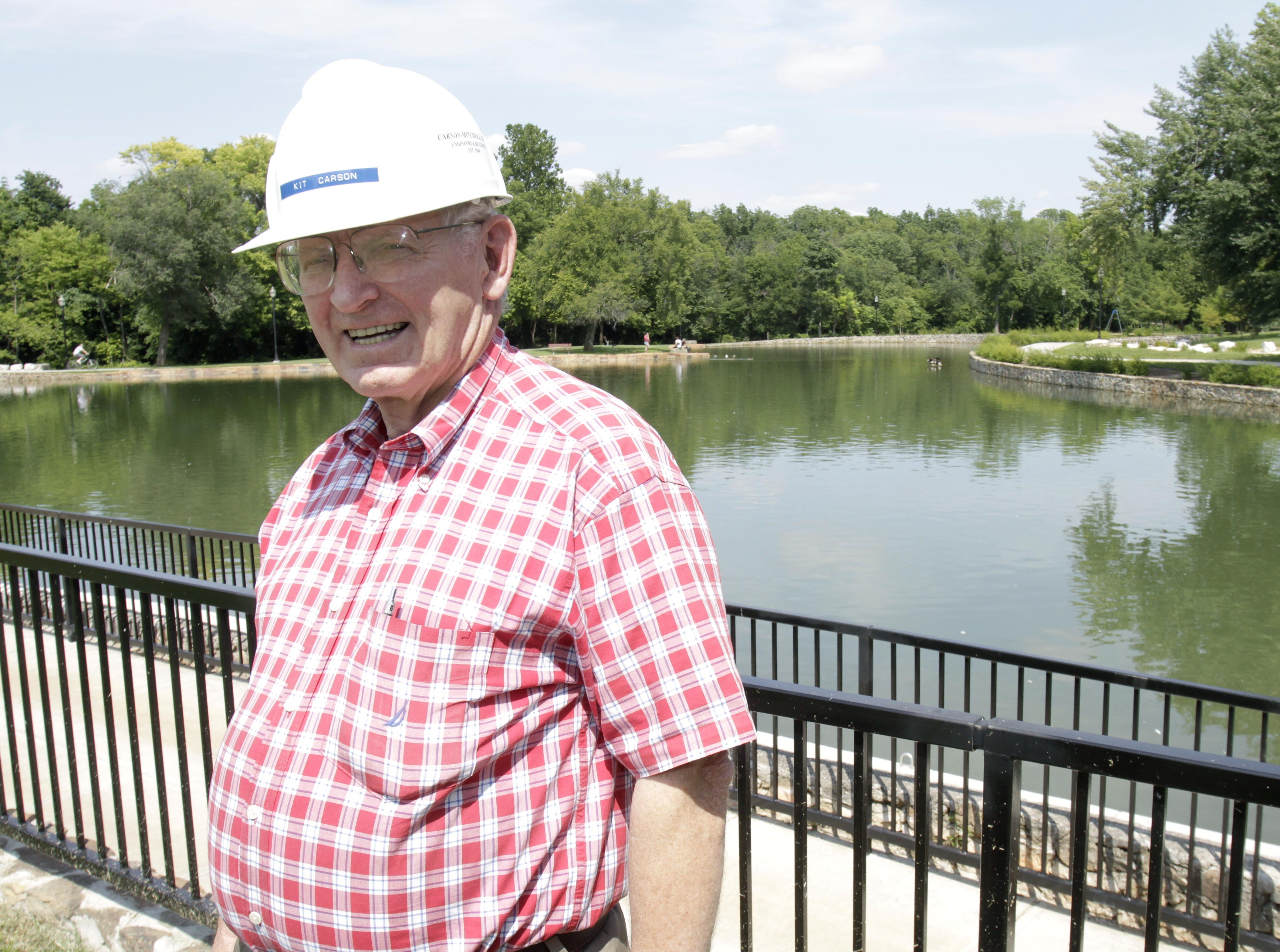 Kit Carson, the president of Carson-Mitchell, Inc., the construction company that performed the renovations to Doling Park. Photo from Aug. 25, 2013.