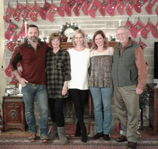 This photo was taken at Christmas a few years ago. From left are Chris Carson, Marty Carson, Wendy Lissau, Latisha Koetting, and Kit Carson.