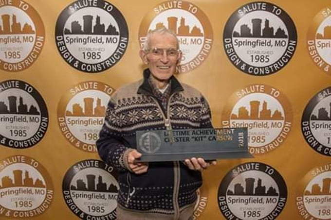 The Springfield Contractors Association presented Kit Carson with the Lifetime Achievement Award in 2018.
