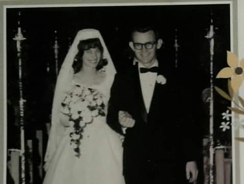 Marty and Kit Carson on their wedding day in 1967.