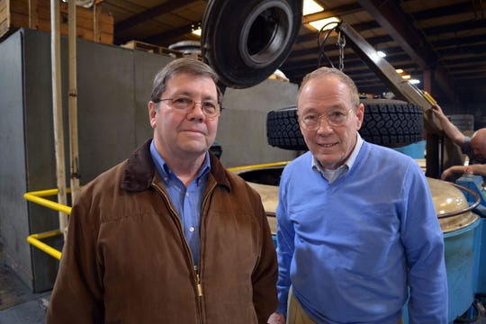 From left to right: Tommy and Terry Westhafer, who own Central Tire in Verona. The company has been around for 74 years, owned by the Westhafer family and is switching ownership Feb. 18, 2019.