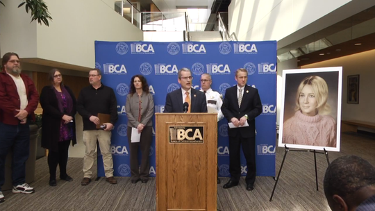 The BCA and Mille Lacs County Sheriff's Office held a press conference Feb. 13, 2019 to identify Gloria Frieda Rieken as a woman found dead in 1970.