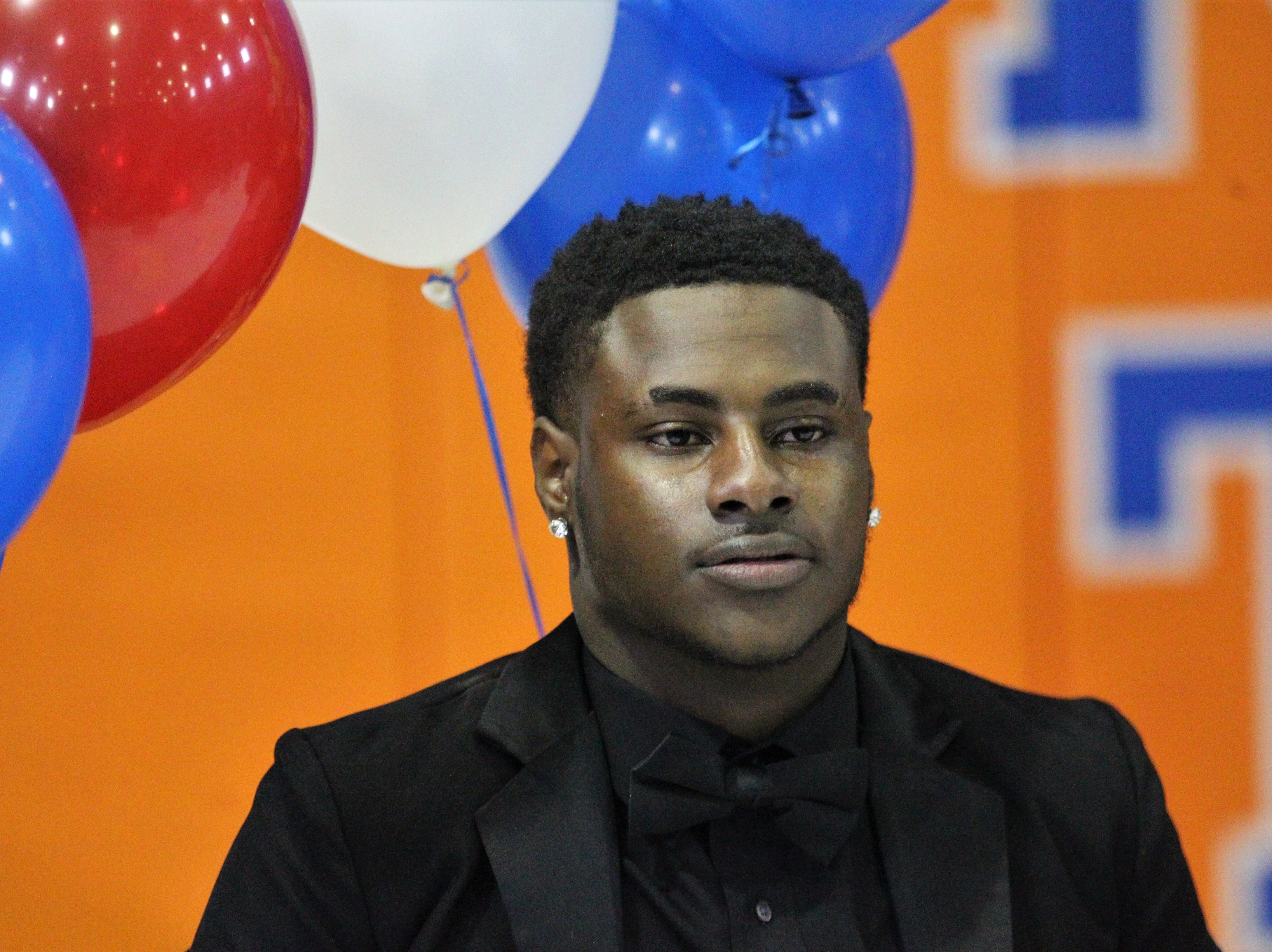 Jefferson County cornerback Zhyki Price waits to sign with Albany State during Jefferson County's signing day ceremony on Feb. 13, 2019.
