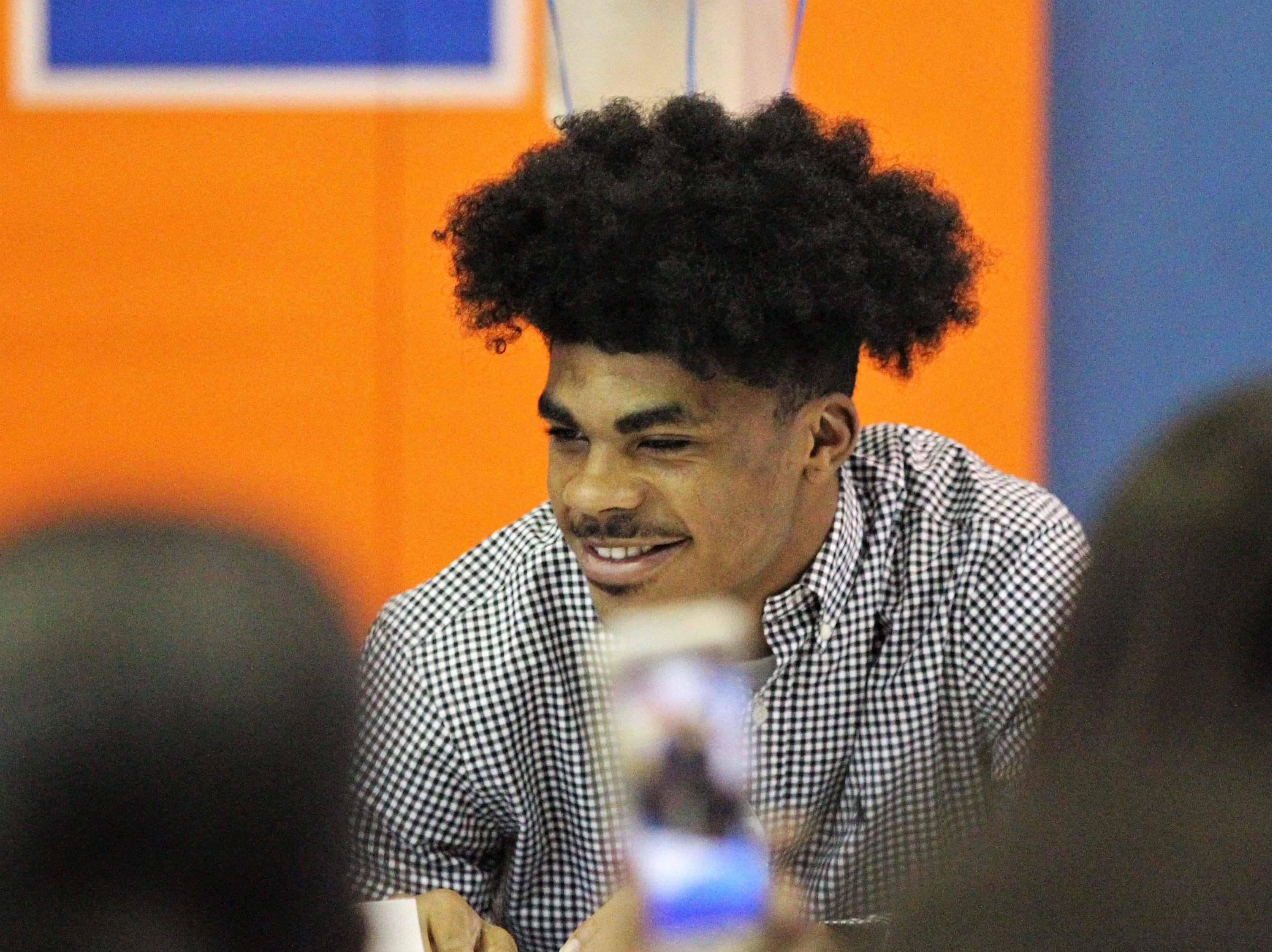 Jefferson County receiver Armon Williams signed with Fullerton College during Jefferson County's signing day ceremony on Feb. 13, 2019.