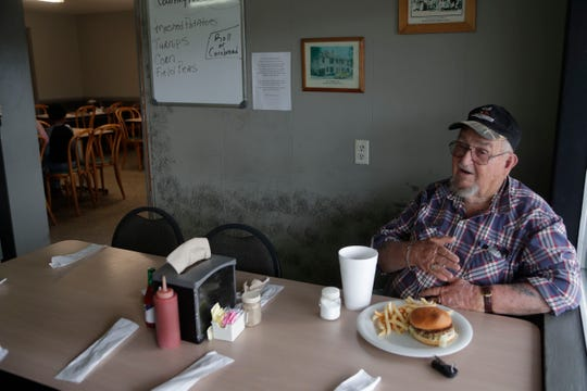 Lee Robinson, an Altha, Fla. resident since 1950, eats lunch at the Altha Diner, Tuesday Feb. 12, 2019. Robinson was a former town council member.