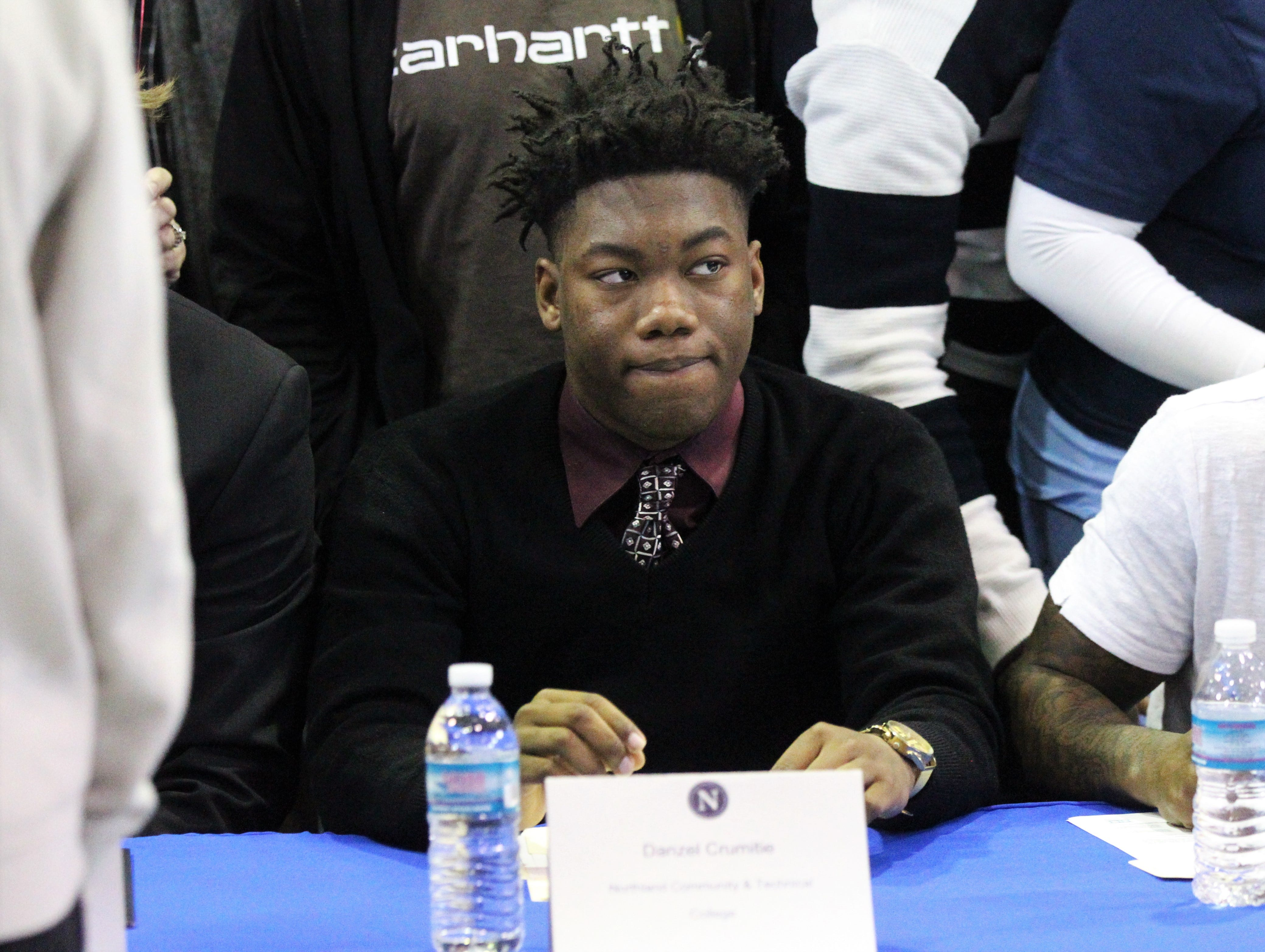 Jefferson County linebacker Danzell Crumitie signed with Northland College during Jefferson County's signing day ceremony on Feb. 13, 2019.