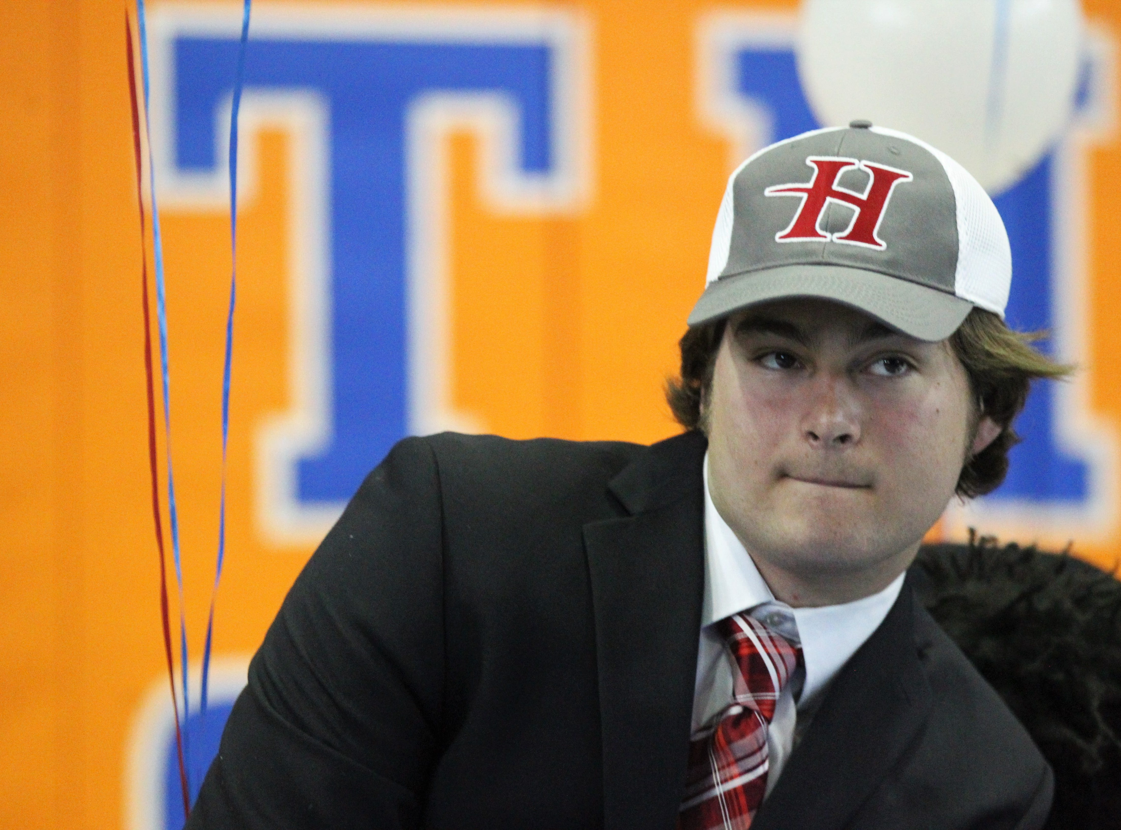 Jefferson County quarterback Josh Aiken signed with Huntingdon College during Jefferson County's signing day ceremony on Feb. 13, 2019.