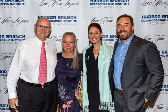 "Bob and Jackie Solari, left, with Kate and Ian Cotner at Harbor Branch Oceanographic Institute Foundation's 2019 ""Love Your Lagoon"" event at Quail Valley River Club, Vero Beach."