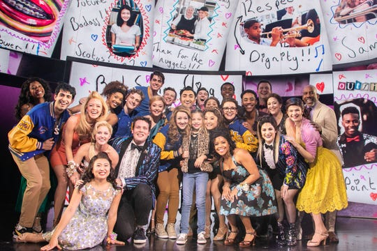 Palmer was embraced by the entire cast of 'Mean Girls.'