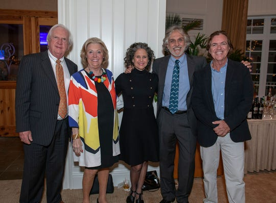 """Bill and Laurie Stewart, left, with Jacqui and Ed Lippisch and Brian Cunningham at Harbor Branch Oceanographic Institute Foundation's2019 """"Love Your Lagoon"""" event."""