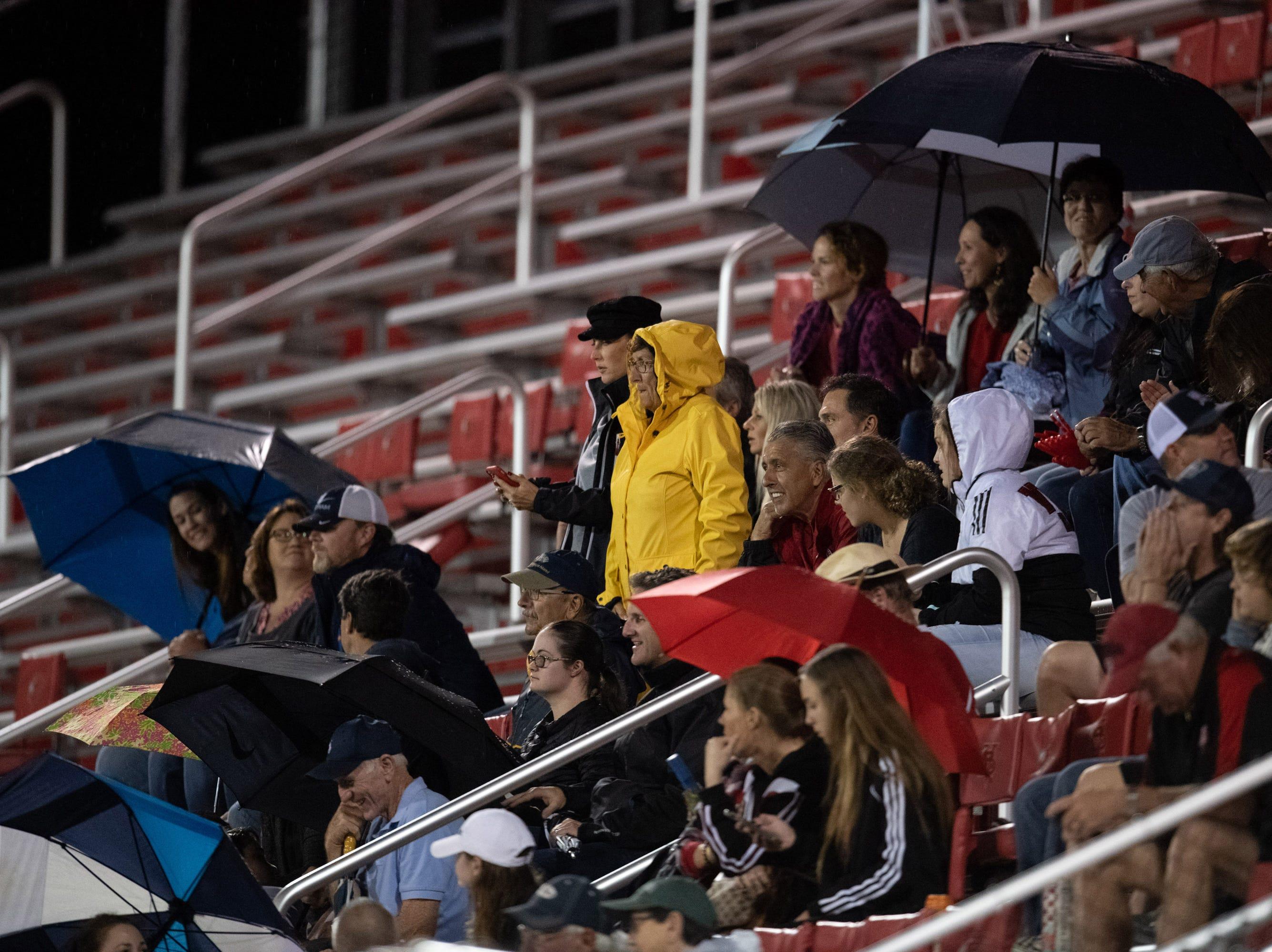 The Vero Beach High School girls soccer team hosts the regional championship game against Boca Raton on Tuesday, Feb. 12, 2019, at Vero Beach's Citrus Bowl.