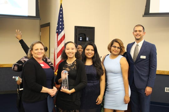 Vero Beach Club Director Barbara Cross, left, with Boys & Girls Clubs of Indian River County Youth of Year contestants Maleah Rada, Pamela Mondragon, Cinthia Castro and Club Athletic Director Jordan Adams. Maleah Rada was named 2019 Youth of Year.