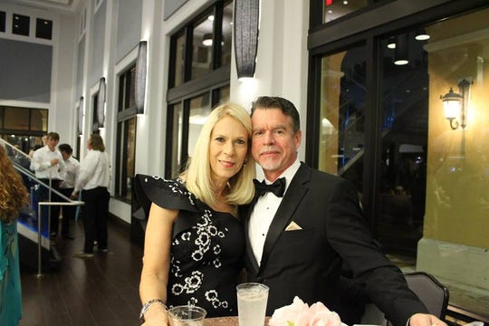 """Mr. and Mrs. Boehning at the 2019 John Carroll High School Gala, """"A Royal Affair,"""" on Jan. 26 at The Promenade on the River in Port St. Lucie."""