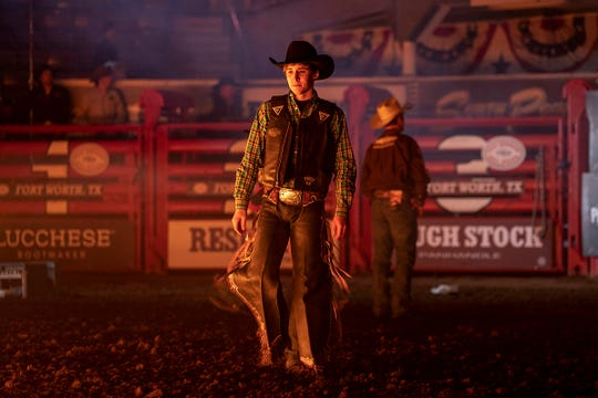 Koby Radley, 20, is a young but top bull rider in the circuit.