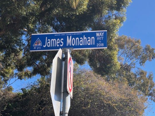 James Monahan Way takes travelers up to Ventura City Hall.